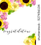 romantic invitation. wedding ... | Shutterstock . vector #527456134