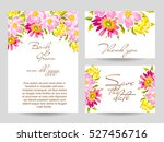 abstract flower background with ... | Shutterstock . vector #527456716
