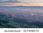silicon valley and green hills... | Shutterstock . vector #527458573