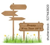 happy new year 2017 text on... | Shutterstock .eps vector #527463820
