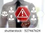 businessman touched attention... | Shutterstock . vector #527467624