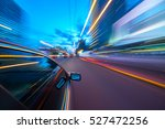 the car moves at fast speed at... | Shutterstock . vector #527472256