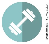 barbell fitness gym icon design ... | Shutterstock .eps vector #527476660
