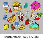 fashion modern doodle cartoon... | Shutterstock .eps vector #527477383