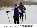 senior couple skiing cross...   Shutterstock . vector #527478286