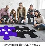 team building collaboration... | Shutterstock . vector #527478688