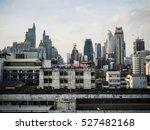 skyline of bangkok in black and ... | Shutterstock . vector #527482168