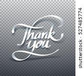 paper art of thank you... | Shutterstock .eps vector #527485774