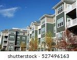 modern apartment building in... | Shutterstock . vector #527496163