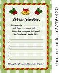 letter for santa claus.... | Shutterstock .eps vector #527497420