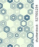 seamless monochrome hexagon... | Shutterstock .eps vector #527501254