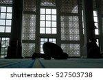 the muslim prayer for god in... | Shutterstock . vector #527503738