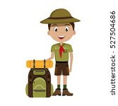 little scout character with... | Shutterstock .eps vector #527504686