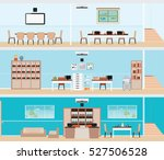 interior of the building ... | Shutterstock .eps vector #527506528