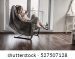 woman drinks coffee and relax... | Shutterstock . vector #527507128