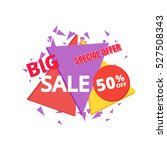 big sale and special offer... | Shutterstock .eps vector #527508343