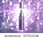 glamorous cosmetic ads  facial... | Shutterstock .eps vector #527512138