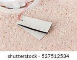 black tag on the beige french... | Shutterstock . vector #527512534