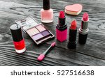set of decorative cosmetics on... | Shutterstock . vector #527516638