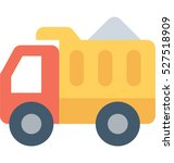 dump truck vector icon  | Shutterstock .eps vector #527518909