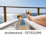 drinks on deck | Shutterstock . vector #527521390