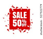 Stock vector abstract sale banner sale off vector illustration on a white background 527522779