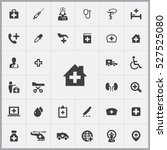 clinic icon. doctor icons... | Shutterstock .eps vector #527525080
