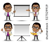 people set   business   african ... | Shutterstock .eps vector #527529919