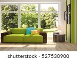 white room with sofa and green... | Shutterstock . vector #527530900