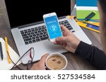 contact us concept on screen   Shutterstock . vector #527534584
