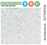 database icon set clean vector | Shutterstock .eps vector #527540326