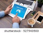 credit score concept on screen | Shutterstock . vector #527543503
