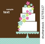 wedding card design | Shutterstock .eps vector #52755127