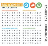 big icon set clean vector | Shutterstock .eps vector #527555428