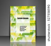 template flyer with abstract... | Shutterstock .eps vector #527558590