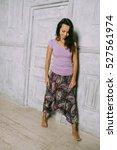 lovely sport girl in fashion... | Shutterstock . vector #527561974