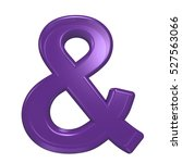 and sign from violet glass... | Shutterstock . vector #527563066