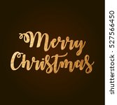 merry christmas. gold sign | Shutterstock .eps vector #527566450