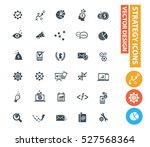 strategy icons clean vector | Shutterstock .eps vector #527568364