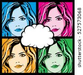 collection of colorful pop art... | Shutterstock .eps vector #527573068