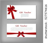 gift voucher template with red... | Shutterstock .eps vector #527574616
