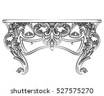 imperial baroque chest table.... | Shutterstock .eps vector #527575270