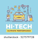 vector illustration of car high ... | Shutterstock .eps vector #527579728