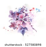 watercolor flowers for greeting ... | Shutterstock . vector #527580898