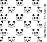 cute bear panda kawaii character | Shutterstock .eps vector #527582320