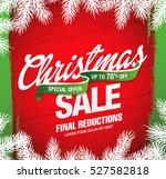 christmas sale banner | Shutterstock .eps vector #527582818