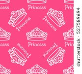 princess crown. seamless... | Shutterstock .eps vector #527589694
