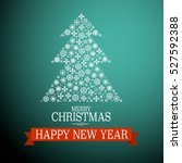 merry christmas and happy new... | Shutterstock .eps vector #527592388