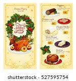 christmas holidays restaurant... | Shutterstock .eps vector #527595754