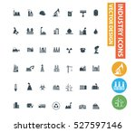 industry icons design clean... | Shutterstock .eps vector #527597146